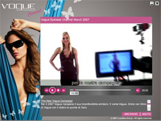 interfaccia Vogue Channel